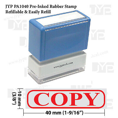 New Jyp Pa1040 Pre-inked Rubber Stamp W. Copy Frame
