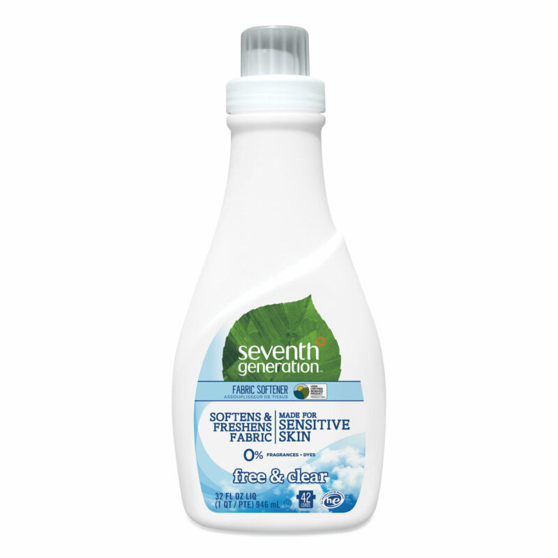 Seventh Generation Natural Liquid Fabric Softener Free and Clear/Unscented 32 oz