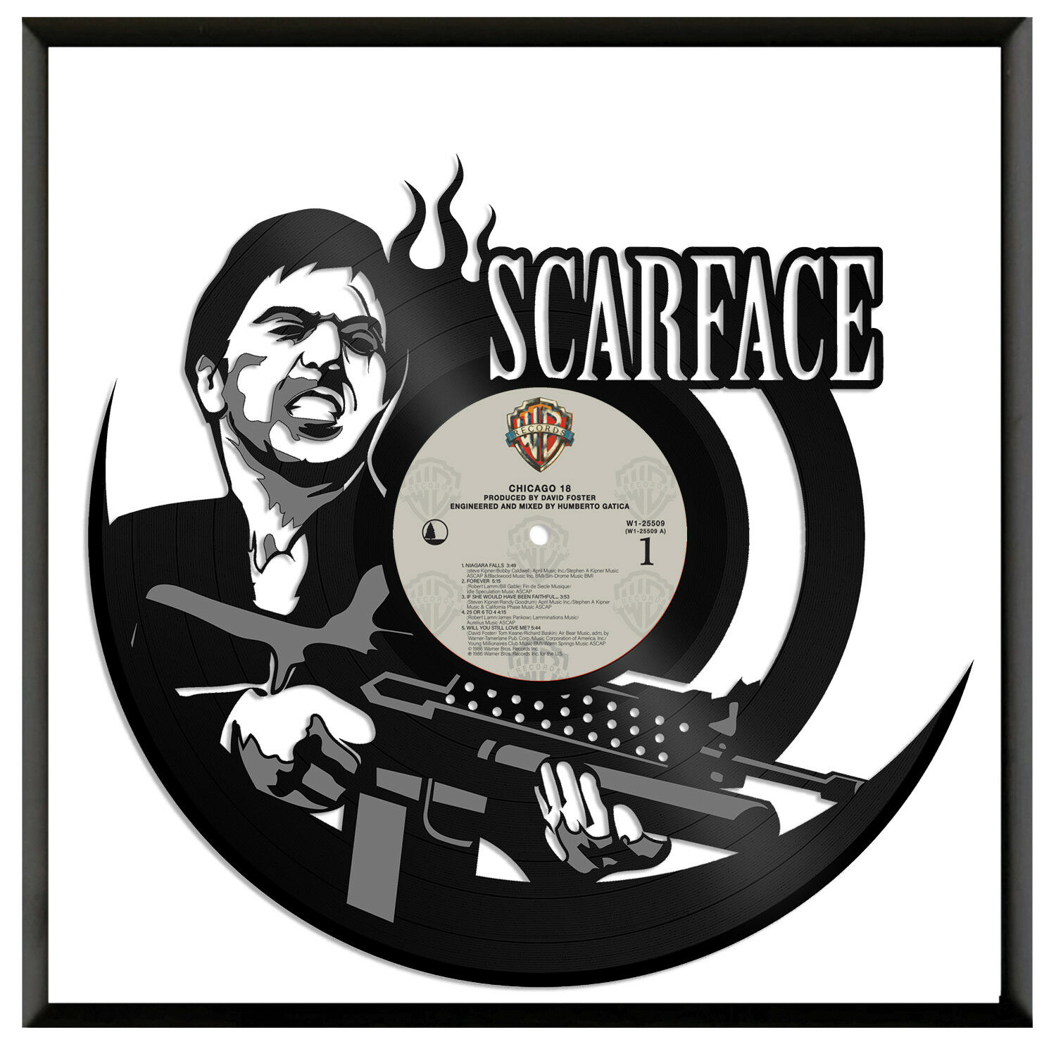 Scarface Vinyl Wall Art Unique Gift For Movie Lovers Home