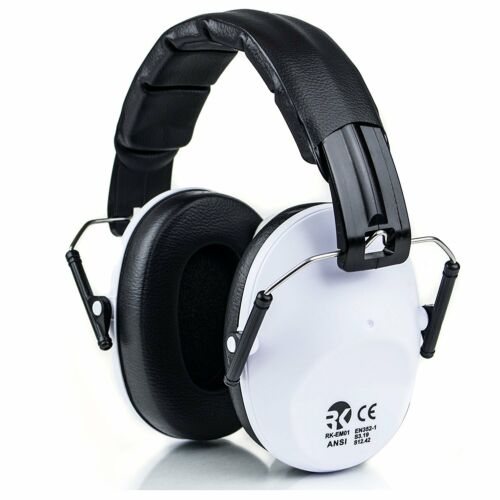 Certified SAFETY EARMUFF, 34dB - Highest Hearing Protection, White-RK-EMO01WH