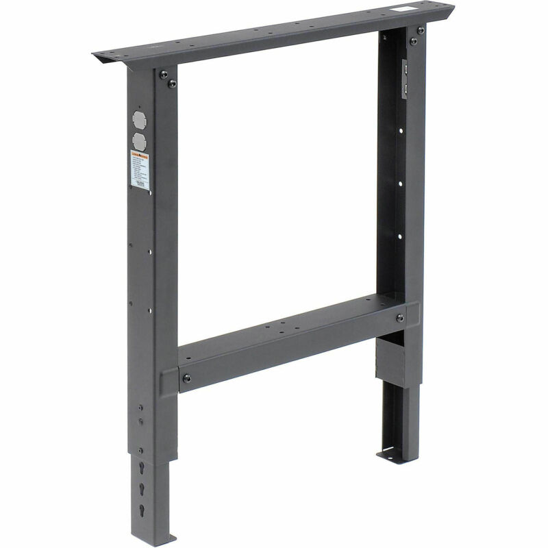 """Adjustable Height Leg For 30"""" Bench, 29"""" to 35"""", Black"""