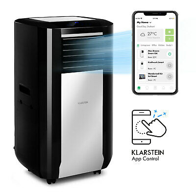 Portable Air Conditioner AC Dehumidifier Cooler 15000BTU 4.4kW Wi fi Touch Black