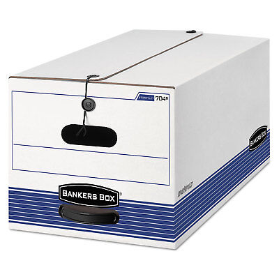 Bankers Box Storfile Storage Box Legal String And Button Whiteblue 4carton