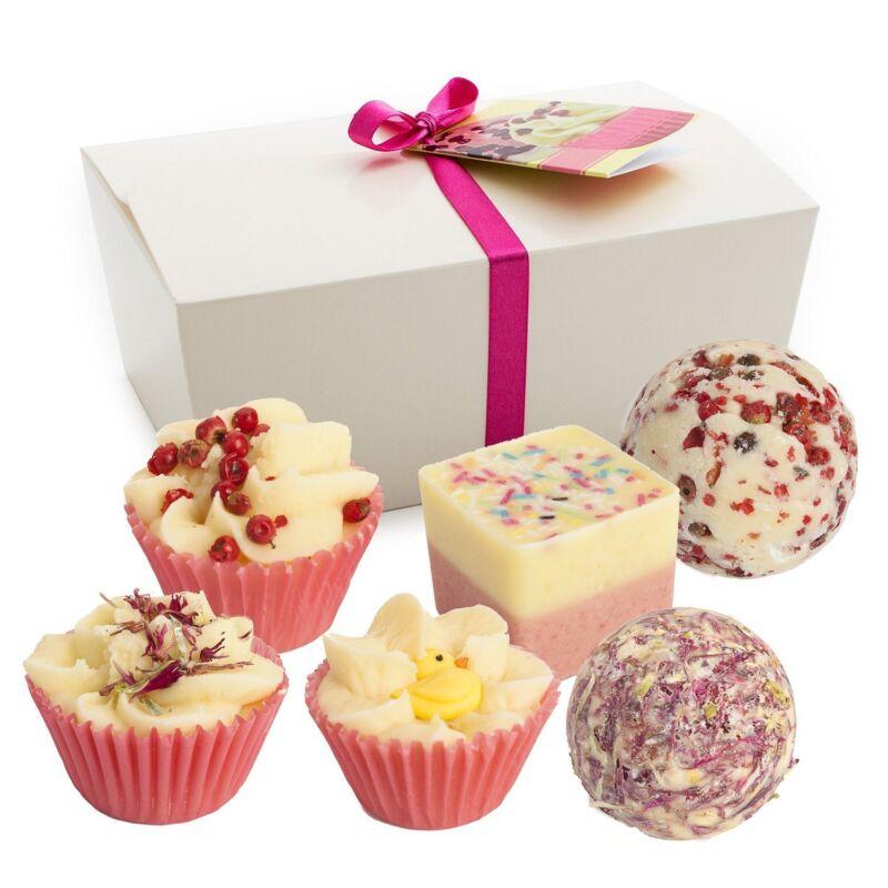 "BRUBAKER 6 Handmade ""Sweet Berries"" Bath Melts Gift Set, Vegan+Organic, Shea B."