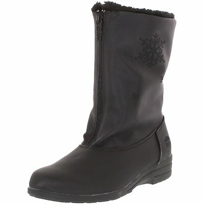 Front Zip Boots - Totes STARIDE 2 Womens Black Waterproof Front Zip Up Winter Boots