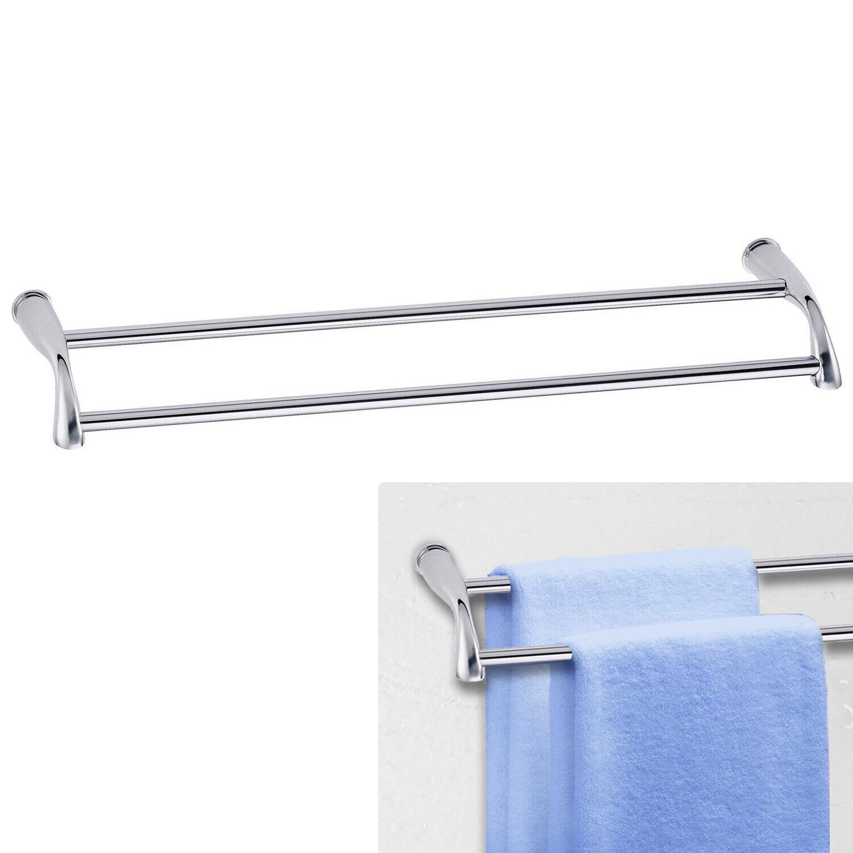 Danze Plymouth Chrome 24 Inch Double Towel Bar Bath Accessory, Solid Brass Bath