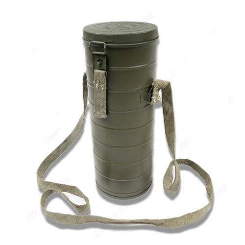 WWII Chinese KMT Military Army Gas Mask Case Holder Box Steel