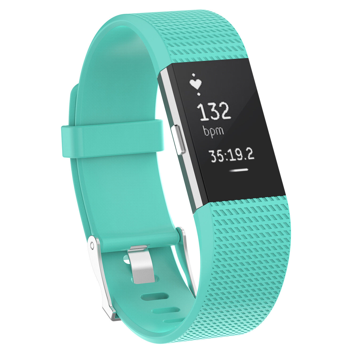 For Fitbit Charge 2 /  2 HR Replacement Silicone Bracelet Watch Band Turquoise