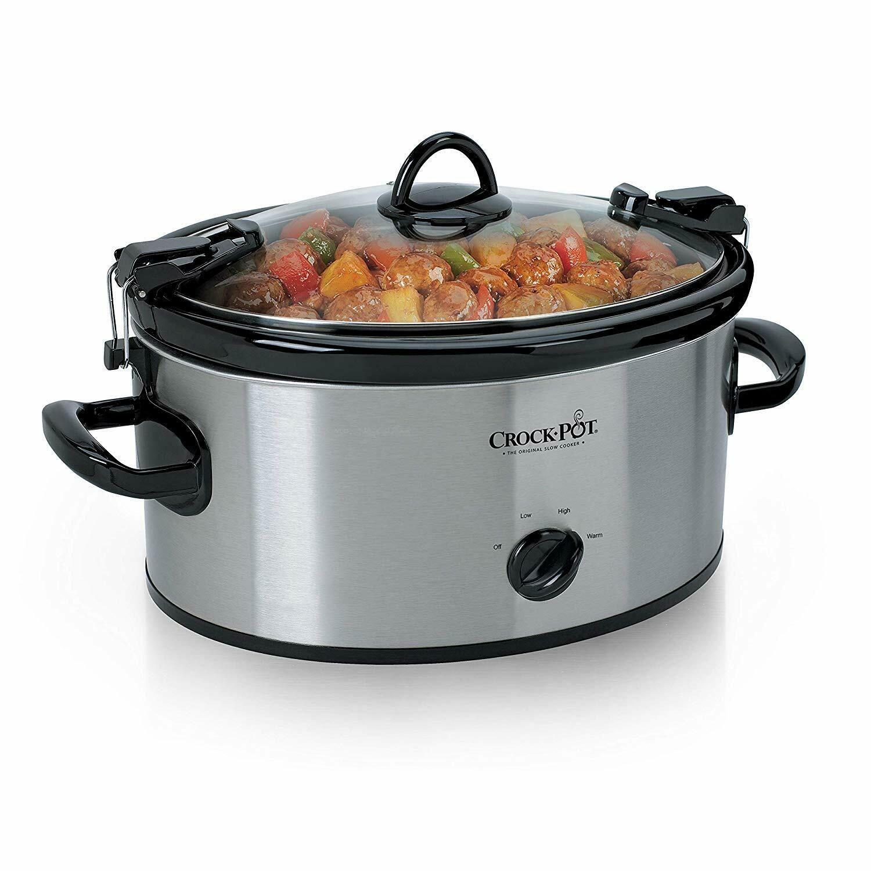 Crock-Pot 6-Quart Cook & Carry Manual Portable Slow Cooker,