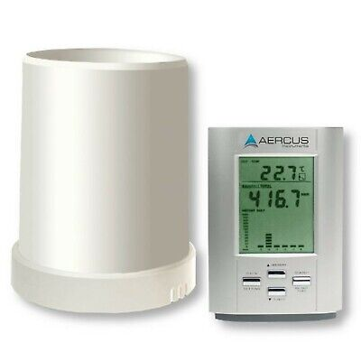 Aercus Instruments KW9015 Rain Gauge with Out/Indoor Temperature and Beginner...