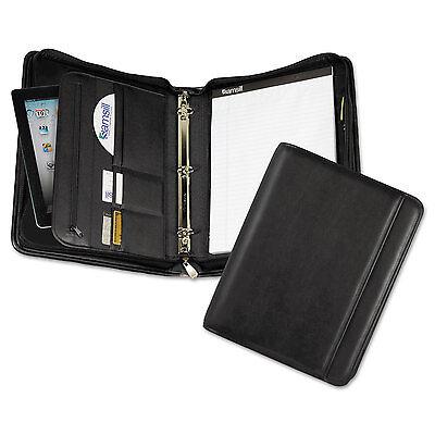 Samsill Professional Zippered Pad Holder/Ring Binder Pockets Writing Pad Vinyl