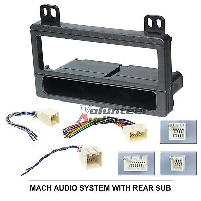 Car Radio Stereo CD Player Dash Install Mounting Trim Bezel Panel Kit + Harness American International Fmk550 Ford Radio