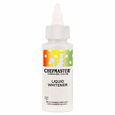 Liquid Food Coloring - Chefmaster by US Cake Supply 2-Ounce Liquid Whitener - 3.5-Ounce Net Cake Food