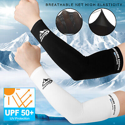 1 Pair Ice Cooling Arm Sleeves UV Sun Protection Cover Sports Golf For Men Women ()
