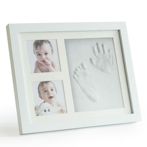 Premium Clay Baby Footprint & Handprint Picture Frame Kit -Safe & Non-Toxic Clay