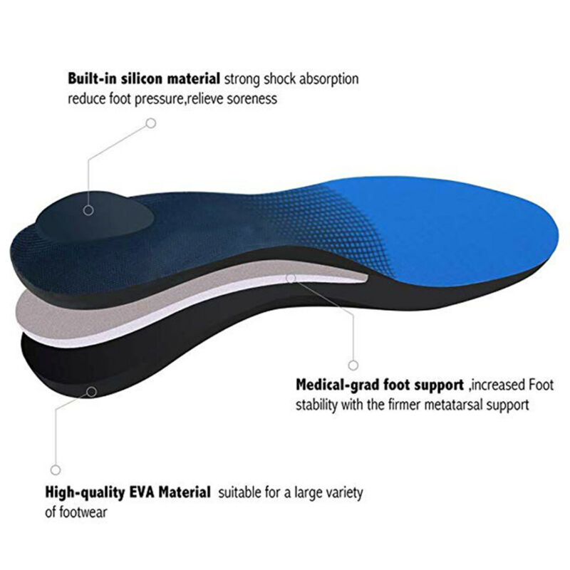Orthotic Plantar Arch Support Foot Inserts L
