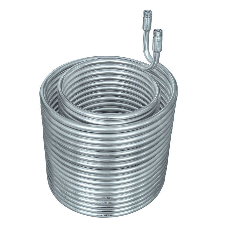 """HFS(R) SS 304 Condensing Coil - 3/8"""" diameter with 3/8"""" NPT"""