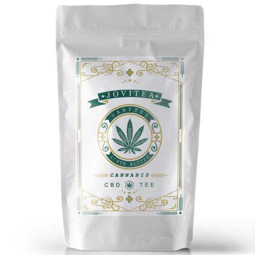 *JoviTea® Hanfblüten Tee mit CBD BIO Premium 30g sehr aromatisch / intensiv – EU*