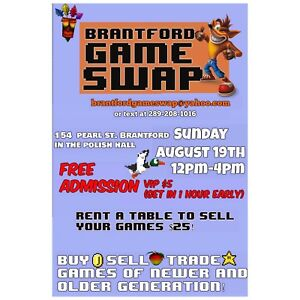 Brantford Video Game Swap FREE ADMISSION!