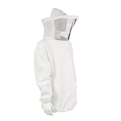 Rural365 Beekeeping Jacket And Hat - White Pullover Beekeeping Jacket Osfa