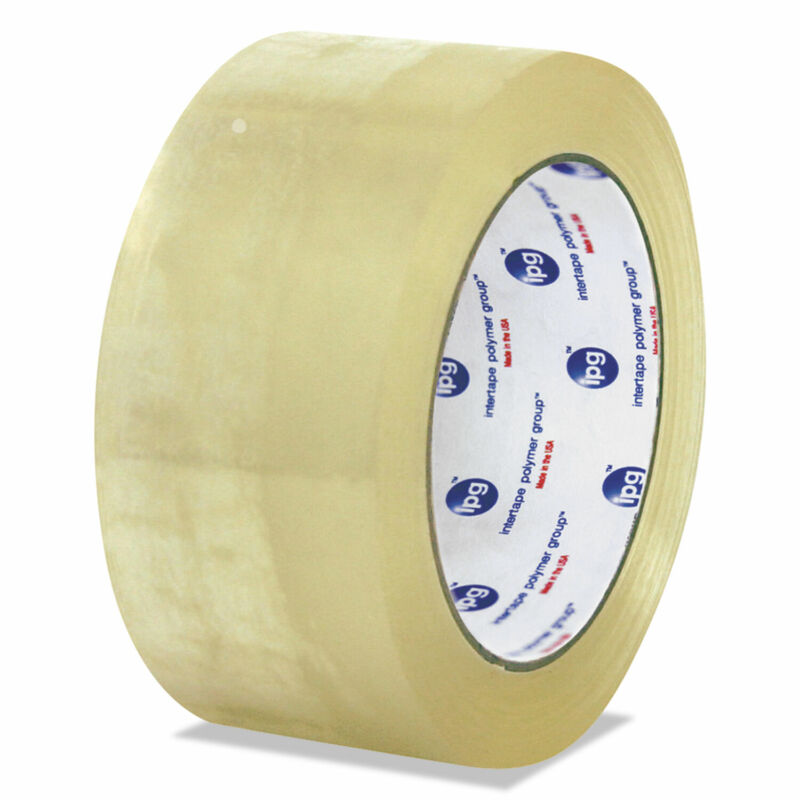 """Universal Clear Packaging Tape, 3"""" Core, 72 mm x 100 m, Clear, 24/Carton 934419"""