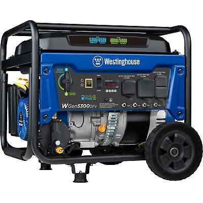 Westinghouse 6600-w 240v Portable Rv Ready Gas Powered Generator With Wheel Kit
