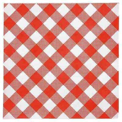 Disposable Red and White Gingham Paper Napkins (Pack of 108) Red Plaid 13X13 ()