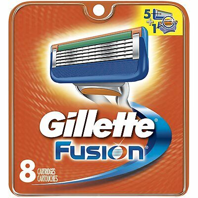 Gillette Fusion Razor Blades [8 pack] - BRAND NEW, SEALED, FREE P&P Genuine (G6)