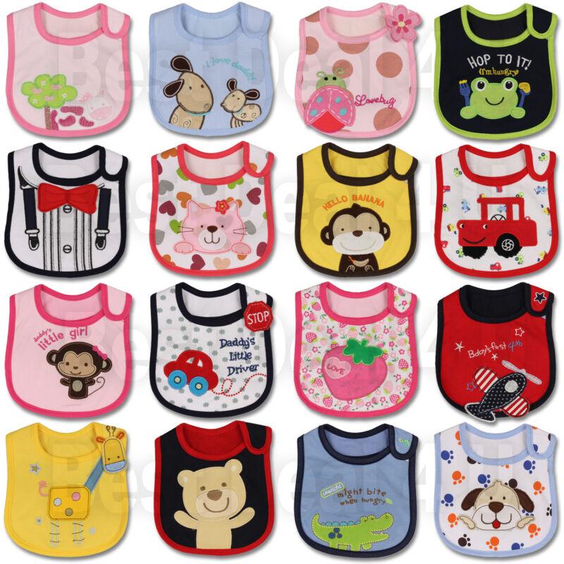 Baby Girl Boy Waterproof Carter Cartoon Towel Kids Toddler Dinner Feeding Bibs