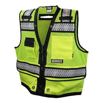 Dewalt Dsv521 Class 2 Safety Heavy Duty Surveyor Lime Vest
