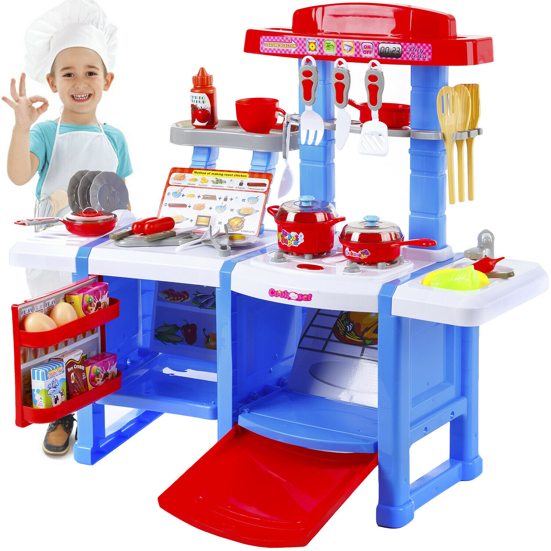 Spielküche Kinderküche Kinder Küche KP3470BLU Spielzeug  mit Zubehör Blau  NEU