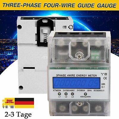 LCD Drehstromzähler Stromzähler 3x5 100 A Digital 3-Phasen-4-Draht DE VERSAND
