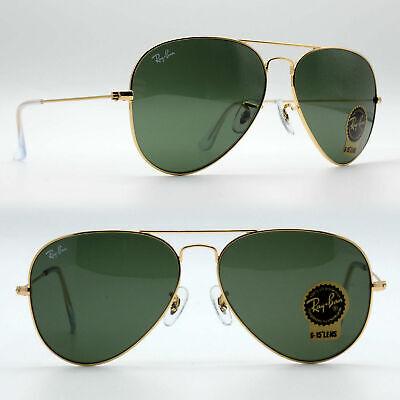 58mm ray-ban aviator new sunglasses women men classic green lens rb3025 (Ray Ban Women's Aviator Sunglasses)