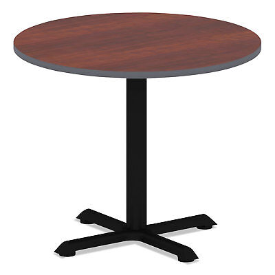 Alera Reversible Laminate Table Top Round 35 12 Dia. Medium Cherrymahogany