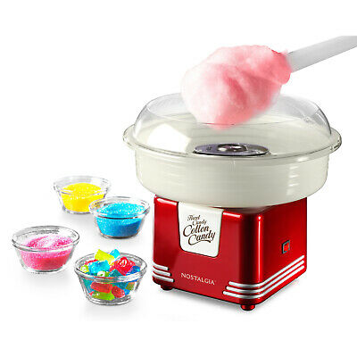 Electric Cotton Candy Maker Retro Red Machine Kit Sugar Free Kid Fun Table Top