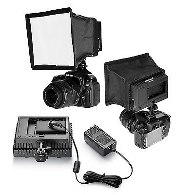 Neewer CN-160 LED Video Light Kit with Power Adapter Light