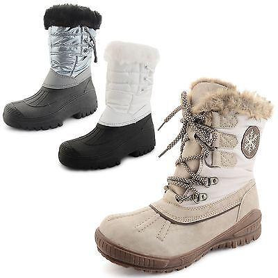 Ladies Womens Snow Boots Waterproof Thermal Wellington Winter Fur Moon Shoes