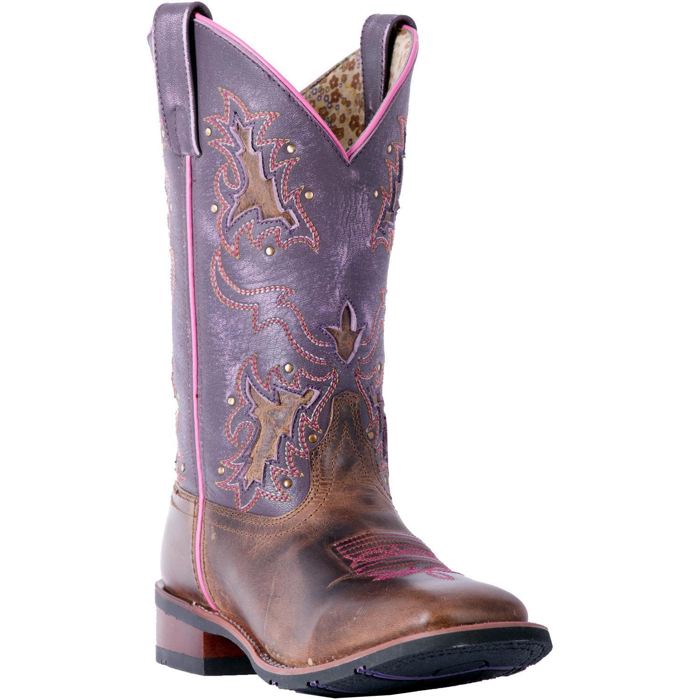 "Dan Post Laredo Lola 01-5657-BN110 Women's 11"" Tan Purple Le"