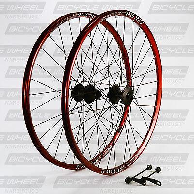 "Pure XCR Red 26"" mountain bike wheel set, 26"",Shimano Viam M475 Disc, DT Swiss"