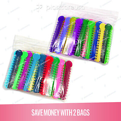 2080 Dental Ligature Rubber Ties Bands Braces Orthodontic Elastic Colored 2 Bags