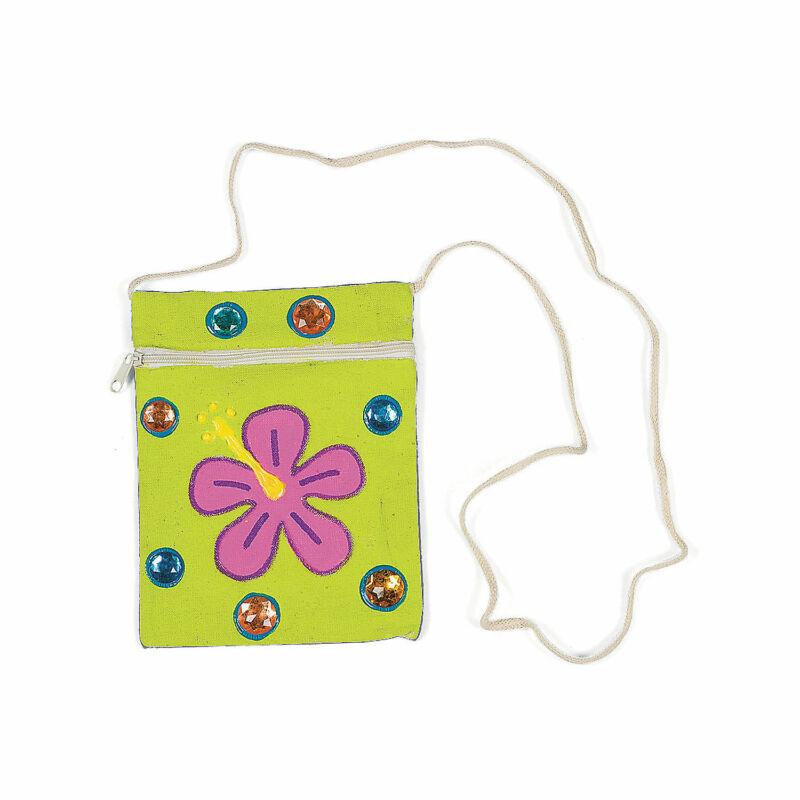 Do It Yourself Canvas Zipper Purses - 48 Pcs. - Craft Kits - 48 Pieces