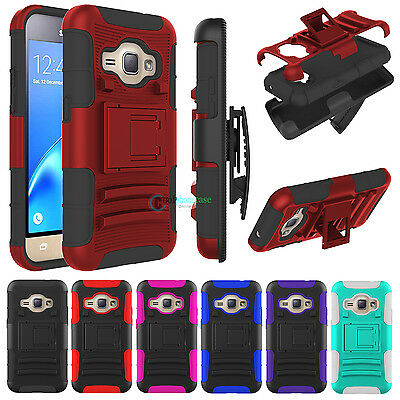 Mobile Phone Holster - Rugged Armor Hybrid Impact Hard Cover Belt Clip Holster Stand Case For Cellphone