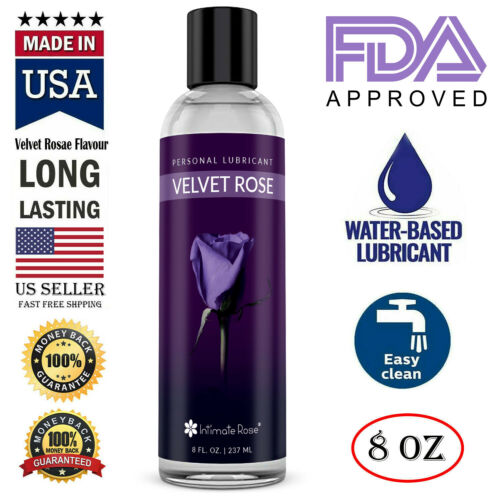 Velvet Rose Personal Lubricant Water Based Lube Long Lasting Uni-Sex Lube USA