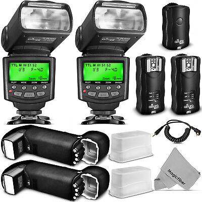 Altura Photo® Studio Pro Flash Kit for CANON DSLR Bundle with 2pcs E-TTL Flash