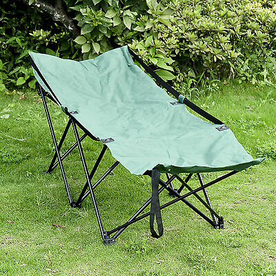 Portable Camping Bed Cot Hammock Adventure Camp Sleeping Cot Folding Steel w/Bag