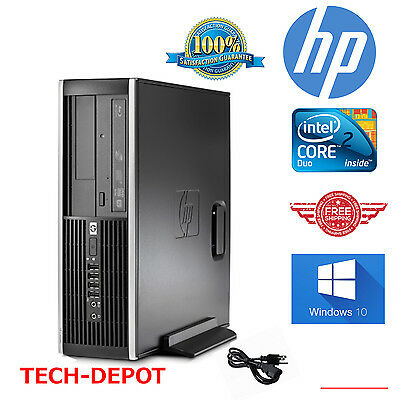HP Computer Core 2 Duo Tower Desktop Computers PC 4GB 160GB Windows 10 FAST