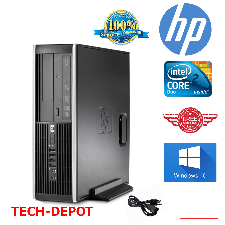 Hp Computer Core 2 Duo Tower Desktop Computer Pc 4gb 160gb