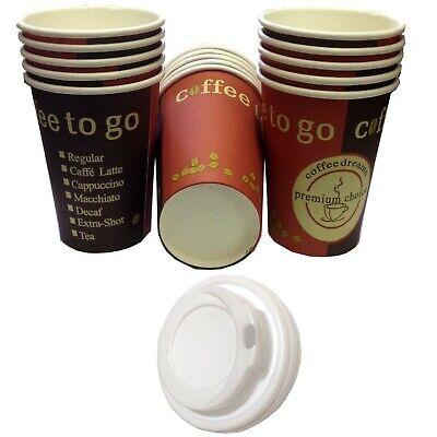 Hartpapier Pappbecher / Kaffeebecher Coffee to go mit/ohne Deckel | 0,2l & 0,3l Becher Deckel