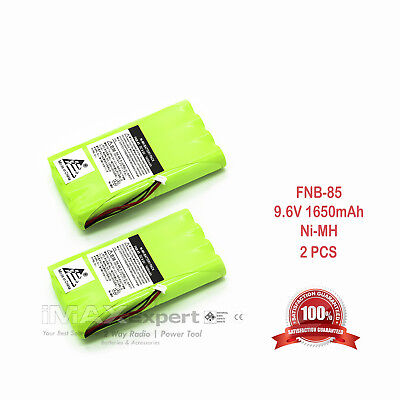 2 X 1650Mah Fnb 72 Fnb 85 Battery For Yaesu Vertex Ft 817 Ft 817Nd Backpacker