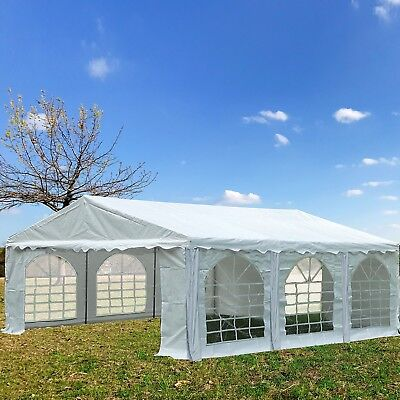PVC Party Tent 20' x 16' White - Heavy Duty Party Wedding Carport Canopy